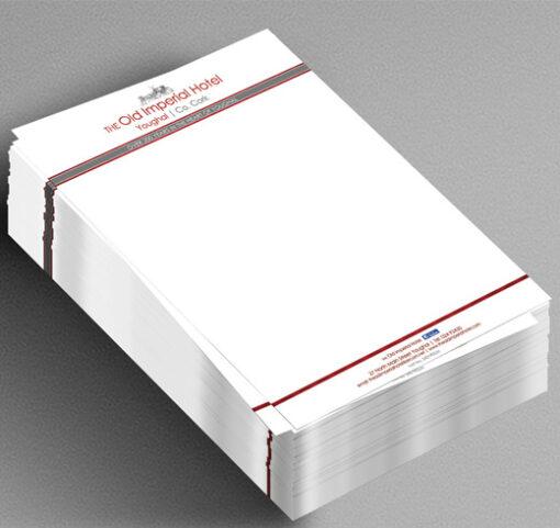 a4 letterhead stack